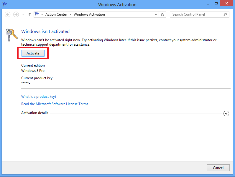how to check windows 8 product key validity